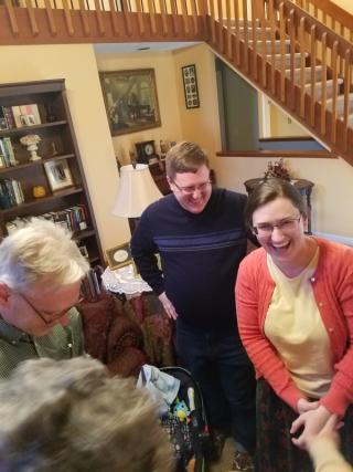 A surprised Sarah!