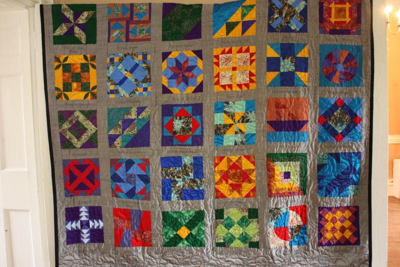 Quilt display at Liberia Plantation