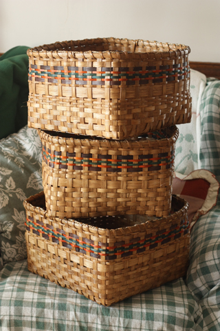 Three large baskets