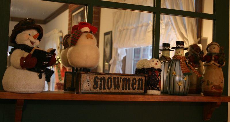 Mom's snowmen