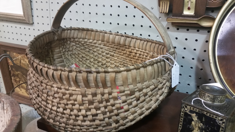 antique egg basket