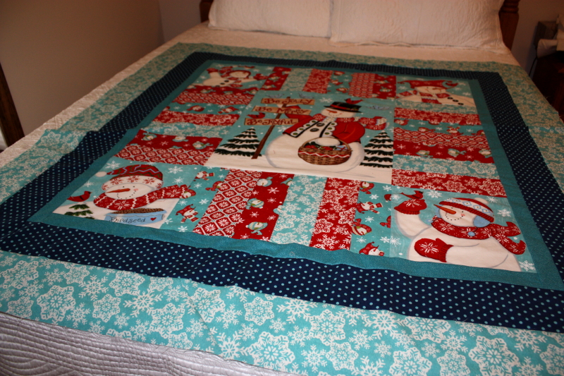 Sarah's gift from me ~ a Snow Time quilt