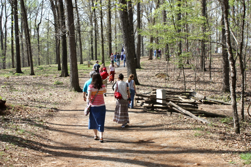 Passing the Confederate Earthworks at Cheatham's Hill
