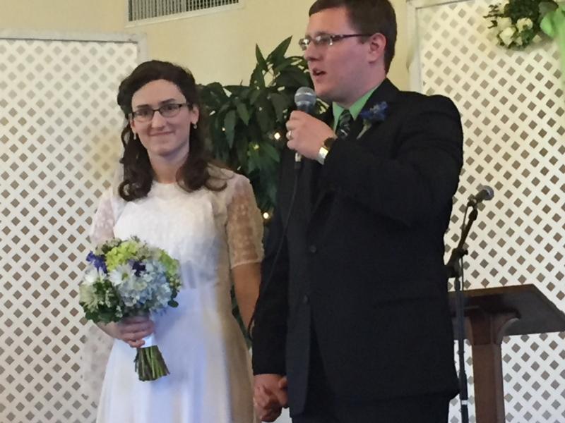 Sarah and Eric as husband and wife
