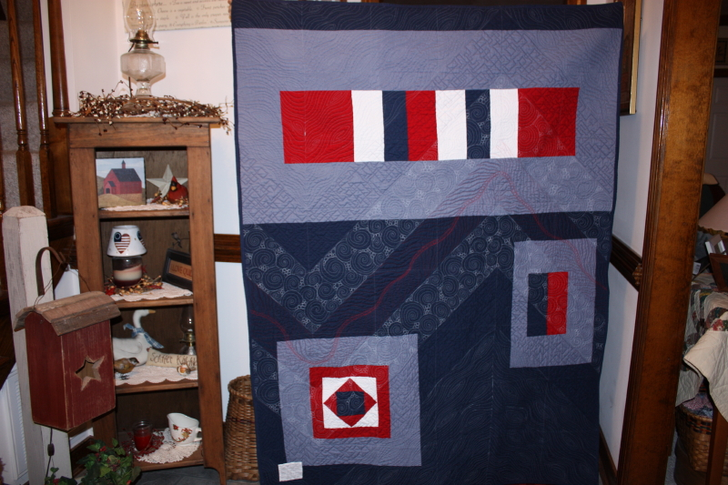 back of Patriotic Chevron by Jen, Quilter in the Closet