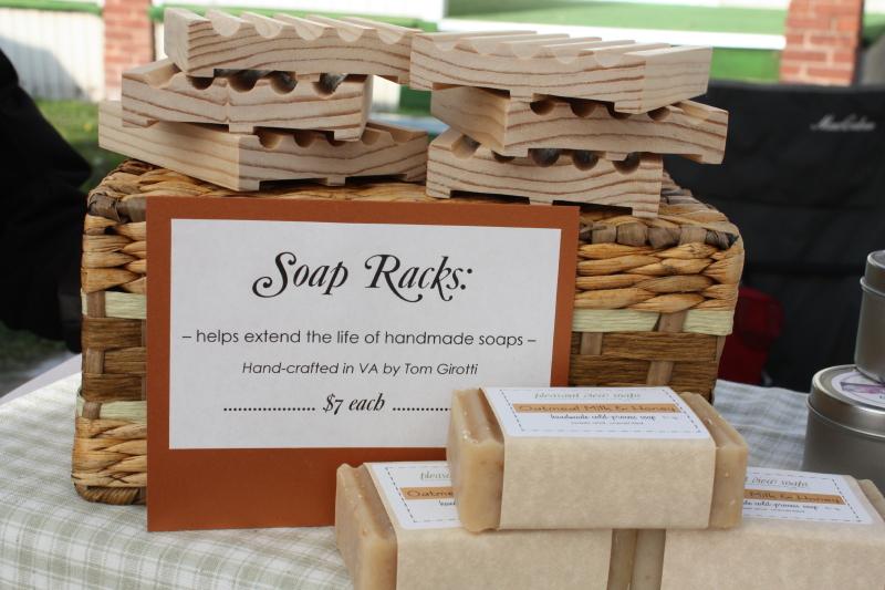 Tom's handmade soap racks