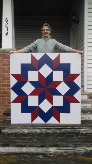 Barbara Cline ~ Barn Quilt painter!