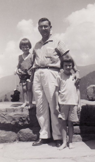 Deb and Betty on vacation with Daddy in 1959