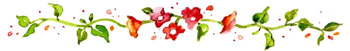 Flower border susan branch