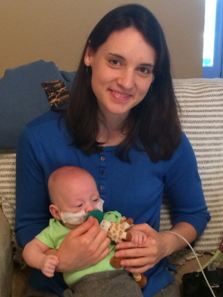 Aunt Hannah loved holding her little nephew!