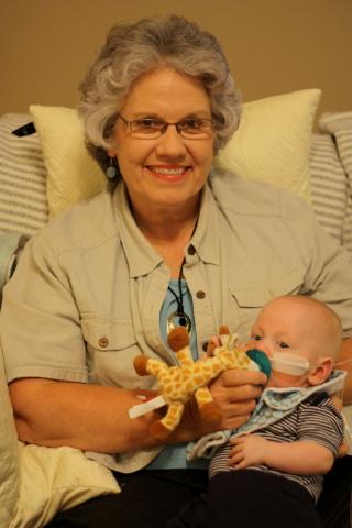 Granny Deb holding Andrew