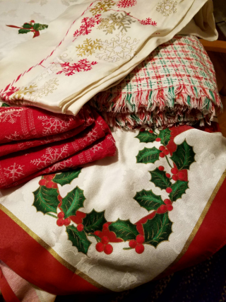 Christmas tablecloths
