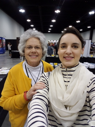Deb and Hannah in vendor hall