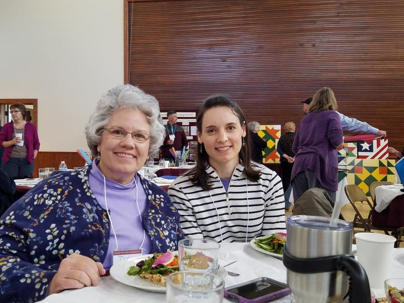 At our table ~ Deb and Hanah