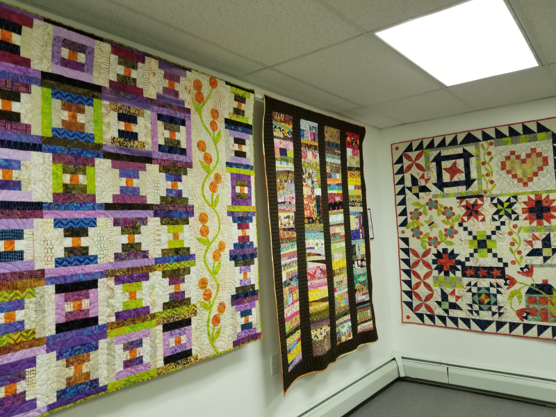 Pat Sloan's quilts on display