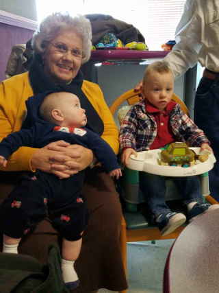 Granny Deb with the boys