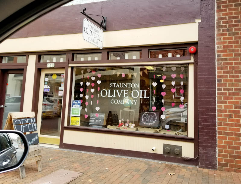 storefront Staunton Olive Oil company