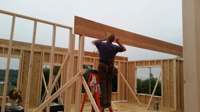 Working on the beams
