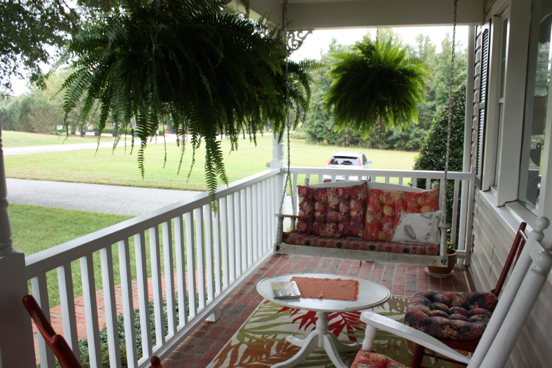 Carolyn's front porch ~ great for chatting