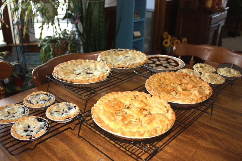 Baking for farmers' market