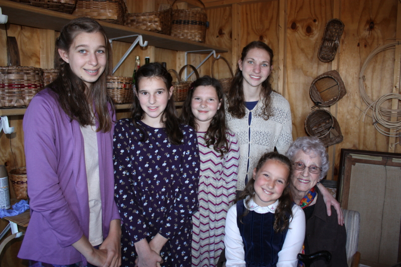 These sisters enjoy being with Granny!