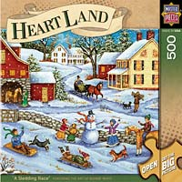 Sled race Heartland puzzle