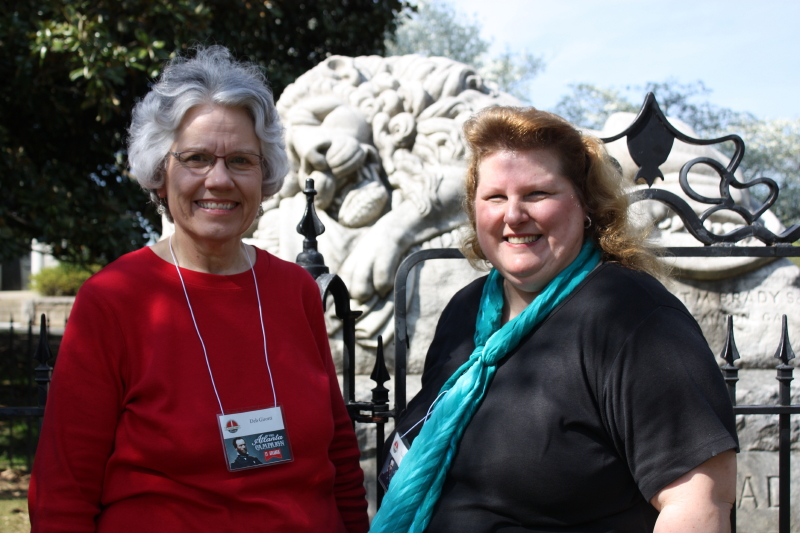 Deb and Victoria at Oakland Cemetery