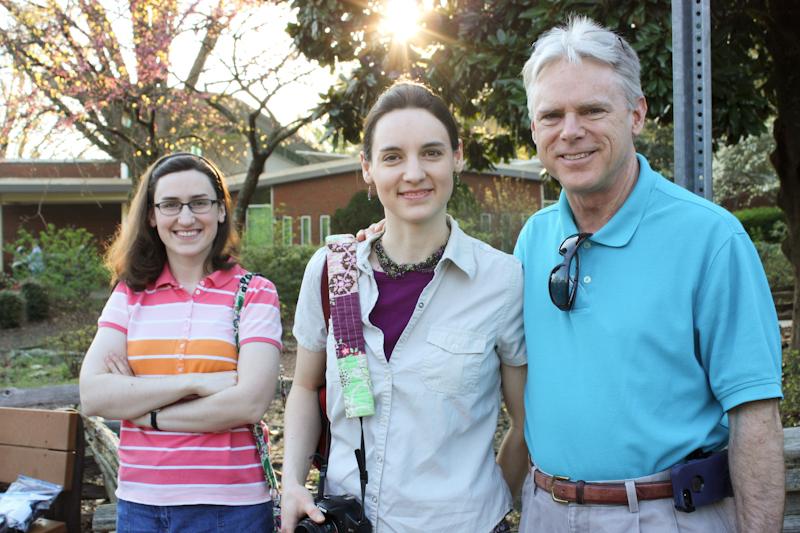 Sarah, Hannah, and Tom at Kennesaw