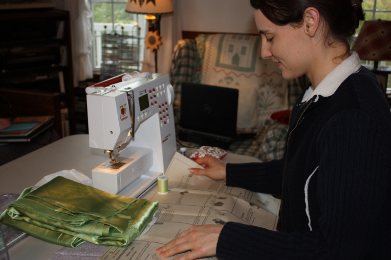 Sewing a practice version for the bridesmaid dress