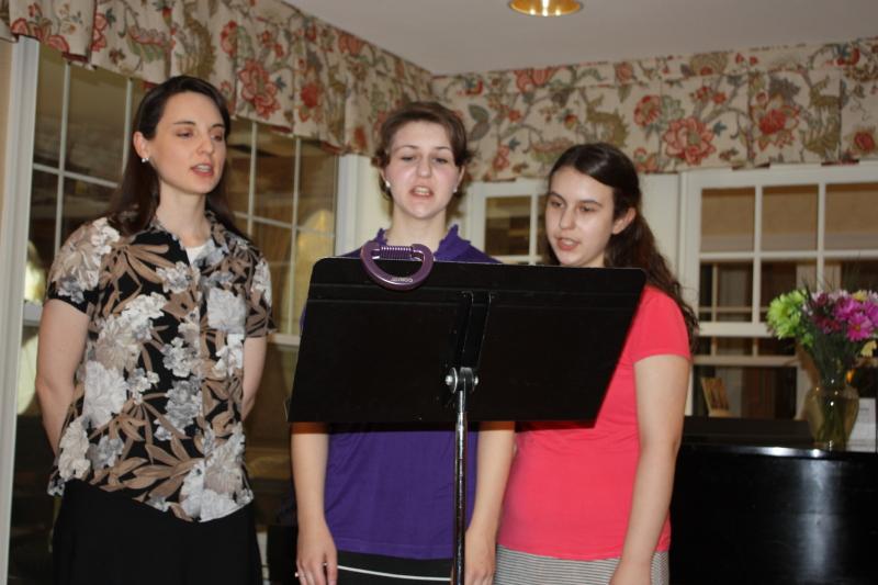 Girls singing Rescue the Perishing
