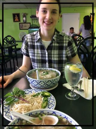 eating at Thai Flavor