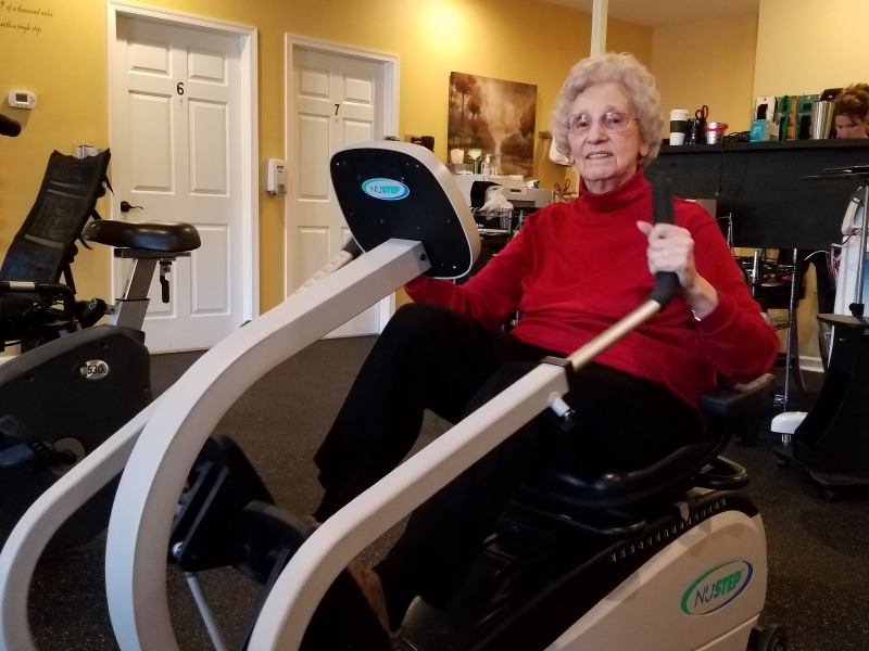 Granny at her last PT session