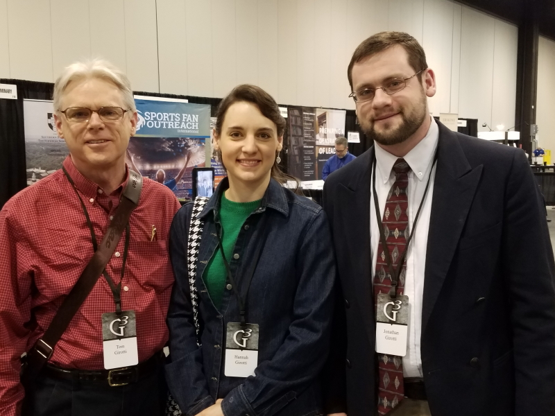 Tom, Hannah, and Jonathan in the vendor hall
