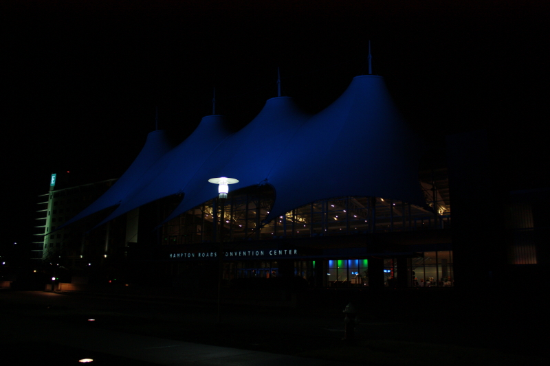 Hampton Roads Convention Center at night