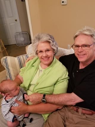 Granny and Grandpa with Matthew