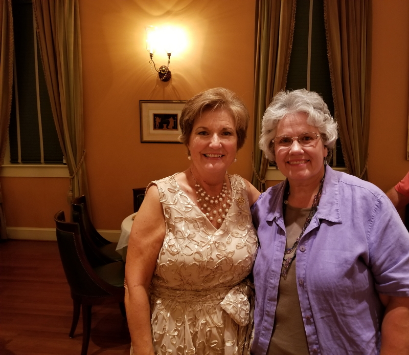 Carolyn and Deb at the 50th Wedding Anniversary Celebration at Berry Hill