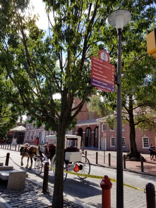 carriage ride in front of Independence Hall