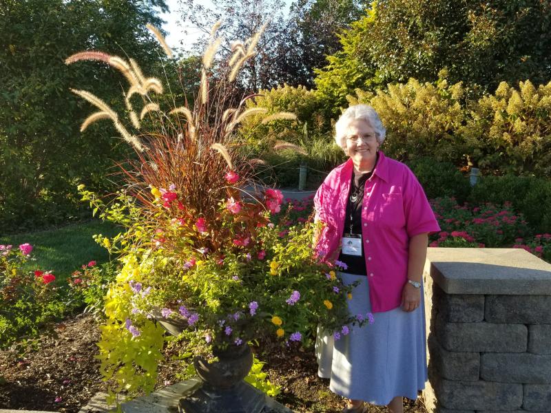 Deb in garden