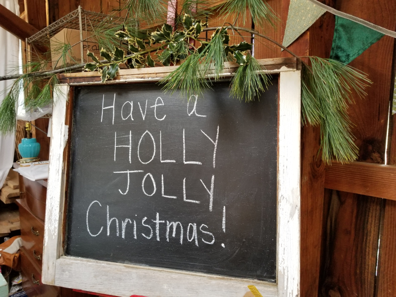 Sign in the barn