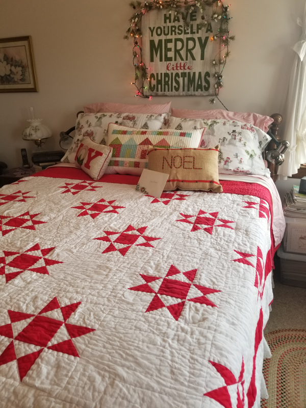 Christmas decorated bedroom especially for Sarah
