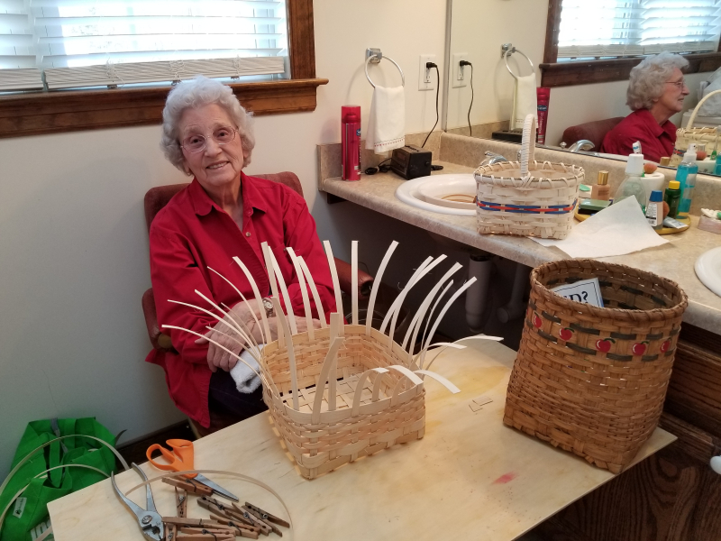 Granny making a basket