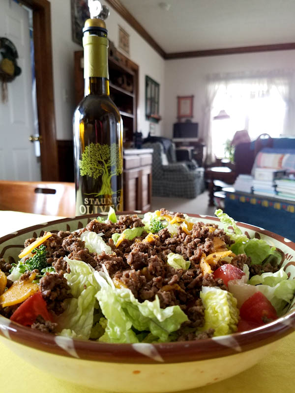 Taco Salad with Chipotle Olive Oil