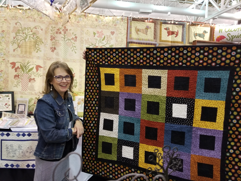 Quilty Girl Chris at the quilt show