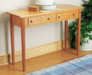 Shaker Hall Table - image courtesy of Woodsmith magazine