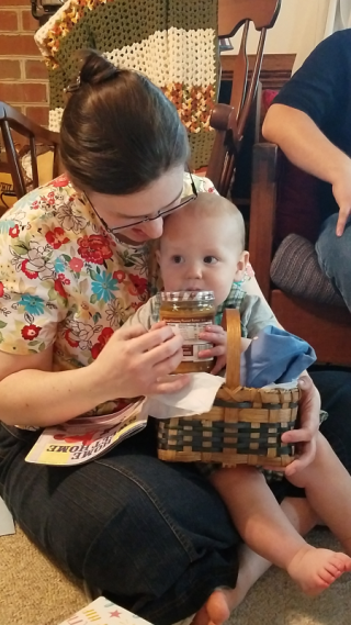 Opening a basket from Great Granny