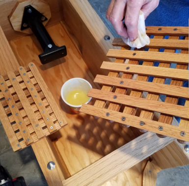 Honey press oil wax