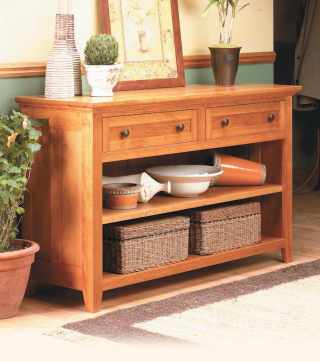 Cherry Console - image courtesy of Woodsmith Magazine