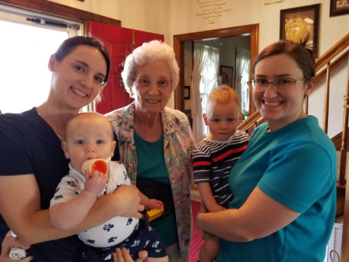 Aunt Hannah, Matthew, Great Granny, Andrew, Sarah