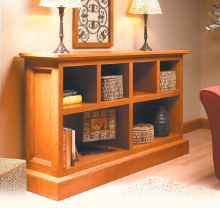 Low Cherry Bookcase - image courtesy of Woodsmith Magazine