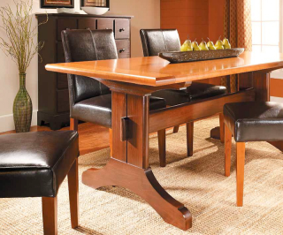 Slide-Out Trestle Table - image courtesy of Woodsmith Magazine